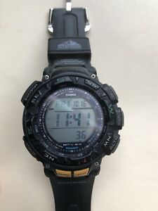 Casio Pathfinder PAG240-1 Wrist Watch for Men (+ New Wrist Band)