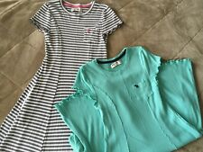 (2) Abercrombie and Fitch Girls 15/16 (fits more like 12)- Gray Stripe And Teal