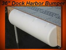 "PVC (Soft) Boat Dock Cushions / 36"" Half Round Flat Back (large dock harbor)"