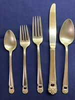 1847 Rogers Bros Silver Plate Place Setting Set 5 Pieces Lot Eternally Yours