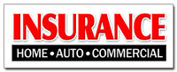 INSURANCE HOME AUTO COMMERCIAL DECAL sticker store shop auto home