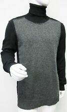 New 1,466 Dolce & Gabbana Mens charcoal Black Turtleneck Cashmere Sweater 54/44