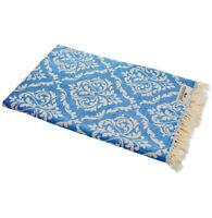 Hamamtuch BAROCK blau Strandtuch Pareo Saunatuch 90x175 cm 100% Baumwolle