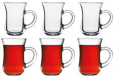 Pasabahce Keyif Teeglas 6er Set, Gläser Teegläser Trinkgläser mit Henkel NEU