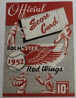 1952 Montreal Royals (Dodgers) v Rochester Red Wings Baseball Playoff Program