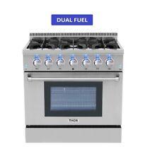 """Thor Kitchen 36"""" Range Dual Fuel 6 Burner 5.2 Cu Ft Oven"""
