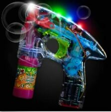 Light Up Bubble Gun with Bright LED Lights - Blower Shooter Party Novelty Toy