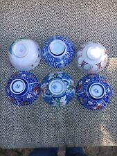 Set Of 6 Japanese Rice Bowl mixed Set