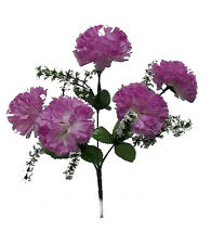 5 Carnations ~ MANY COLORS ~ Centerpieces Silk Wedding Flowers Bridal Bouquets
