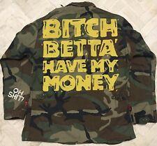 "Vintage Mega Rare Amg Dj Quik Rihanna ""Bitch Betta Have My Money� Camo Jacket Sm"