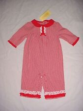 NWT Gymboree Girls GOOD OLD DAYS Red Gingham Ruffle Trim Romper 3-6 M VHTF
