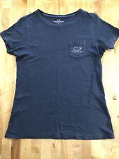 Vineyard Vines Women's Whale Logo Distressed Pocket T Shirt Size Small