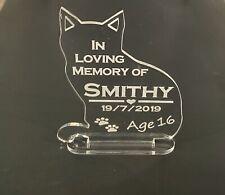 Personalised Engraved Cat Pet Memorial Keepsake, Grave Mark Loving Memory Rabbit