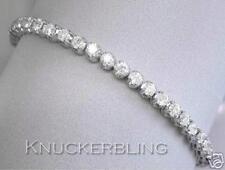 "Tennis White Gold Fine Diamond Bracelets 7 - 7.49"" Length"