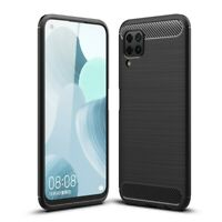Huawei P40 Lite Handy Hülle Silikon Case Schutzhülle Cover Bumper Carbon Farben