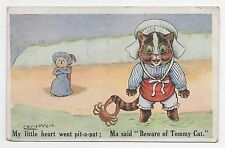 "Louis Wain Original 1920s Postcard - ""Beware Of Tommy Cat"" - Pioneer Series"