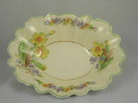 Wedgewood & Co. Ltd England Candy Dish Yellow & Purple Flower Design