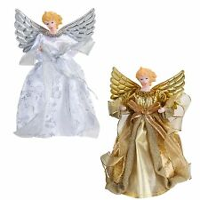 Christmas Decoration - Tree Topper - Angel - Silver / Gold - Choose Colour