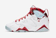2019 Nike Air Jordan 7 VII Retro GS SZ 6Y White Topaz Mist Gym Red 442960-104