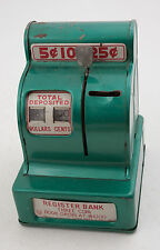 Louis Marx Cash Register Bank Opens at $10 Green (F1L)