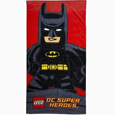 LEGO BATMAN KAPOW BATH BEACH TOWEL COTTON DC SUPERHEROES SWIMMING CHILDRENS