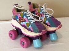 Barbie Child Size Roller Skates, 4 Wheels, Children's Size 13