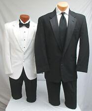Mens Black Tuxedo Jacket, White Dinner Jacket, Pants, Cummerbund & Tie Mason 42R
