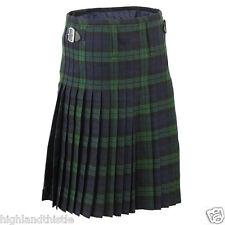 "Black Watch Kilt Scottish Wear With Two Buckle, Casual Kilt, Size 36"""