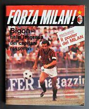 Rivista calcio FORZA MILAN ! 9/1979 BIGON GIACOMINI RIVERA con poster a colori