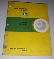 John Deere 2755 and 2855N Tractors Parts Catalog Manual PC-4215 Diagrams