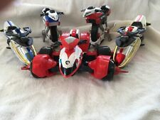 Bandai 2004 Power Rangers SPD vehículo paquete incluye un ATV & 4 Motocicletas