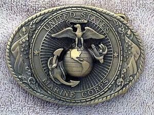 Limited Edition USMC Belt Buckle (Solid Brass)