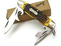 Schrade 23UH Uncle Henry Sawcut Scout Multi-Tool Pocket Knife Screwdriver