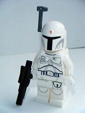 Lego Guerra de las Galaxias Blanco Boba Fett Minifigura prototipo en muy buena condición
