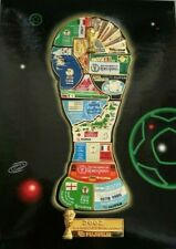 VTG 2002 FIFA World Cup KOREA JAPAN Map Puzzle Pin Set Enamel Football Limited