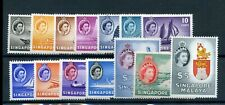Singapore 1955 defin set mint $ values MH others MNH