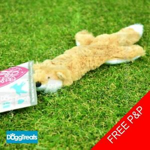 Ancol Small Bite Floppet Fox With Squeaker - Soft Plush Puppy Dog Toy Comforter