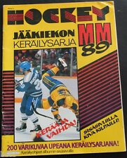 1989 Finnish Semic World Championship Hockey Sticker Album 14/200