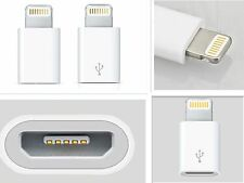 mini 8pin to micro USB charger convertre adapter for iphone 5 5C 6 2pc white