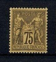 """FRANCE STAMP TIMBRE N° 99 """" SAGE 75c VIOLET SUR ORANGE """" NEUF xx TTB SIGNE V564"""