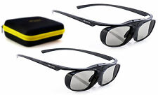 2x aktive 3D-Brille Hi-SHOCK® RF Pro Black Heaven für Sony Beamer VPL HW45 ES