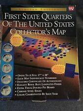 First State Quarters Collectors Map EBay - First state quarters of the us collectors map