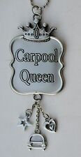 s CAR POOL Queen CAR CHARM rear view Mirror Ornament ganz carpool crown heart