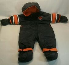 ☆ CHICAGO BEARS REVERSIBLE ZIP-FRONT HOODED ONE-PIECE INSULATED SNOW SUIT KIDS
