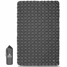 New listing Ultralight Double Sleeping Pad for Camping, Portable Waterproof Camping Grey