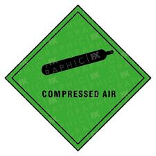 Compressed Air Hazard Warning Labels Stickers COSHH PPE