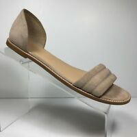 J. Crew Womens Biege all leather Suede Sandal Size 9.5 M