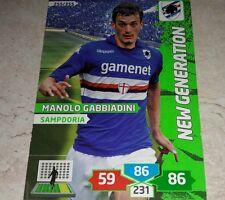 CARD ADRENALYN 2013/14 CALCIATORI PANINI SAMPDORIA GABBIADINI CALCIO FOOTBALL