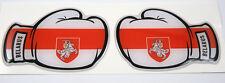2 Boxing Gloves Belarus Belorussian Flag Domed Decal Emblem car stickers