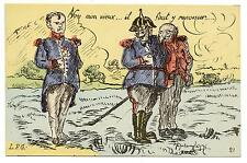 WWI.CARICATURE.KAISER GUILLAUME II & FRANZ JOSEPH.WE SHALL NEVER BE NAPOLEON 1st